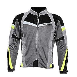 TVS Polyester Riding Jacket – Level 2 (Neon Line, XL)