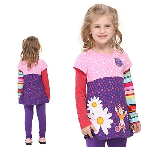 The Most Popular Girls In School Costume (Nova Cotton Sunny Baby Girl Long Sleeve Clothes F1960 Purple (4/5y))