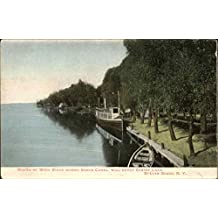 Mouth of Wood River where Barge Canal will enter Oneida Lake Sylvan Beach, New York Original Vintage Postcard
