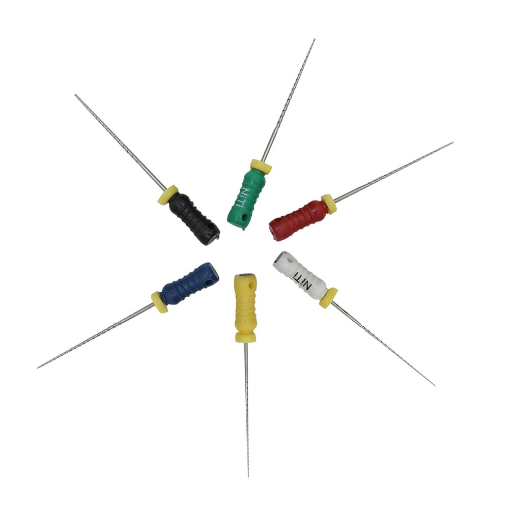 10 Packs Hand use endodontic NITI K Files, 25mm, 15-40
