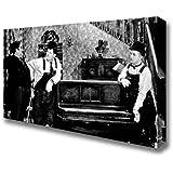 Living Colors Wide Laurel And Hardy Piano Break Canvas Art Prints - Medium 16 x 32 inches