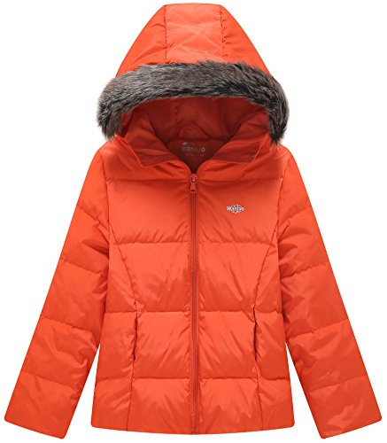 Wantdo Girl's Ultra Light Down Jacket Windproof Hoodies Camping Rose Red 4/5