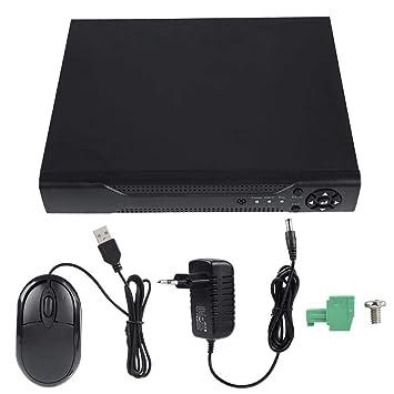 4-CH 1080N CCTV Grabador, NVR AHD TVI 4CH DVR Grabador de Video Sistema de cámara de Seguridad con Acceso Remoto, información de Alarma Push(EU): Amazon.es: ...