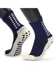 Festnight Men's Anti Slip Football Socks Athletic Long Socks Absorbent Sports Grip Socks for Basketball Soccer Volleyball Running Trekking Hiking 1 Pairs / 3 Pairs