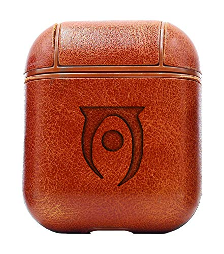 Elder Scrolls Oblivion (Vintage Brown) Air Pods Protective Leather Case Cover - a New Class of Luxury to Your AirPods - Premium PU Leather and Handmade exquisitely by Master Craftsmen