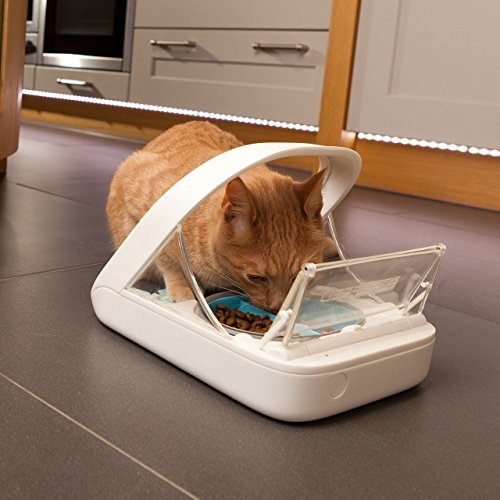Automatic Pet Feeder - Sureflap - SureFeed Microchip Pet Feeder - MPF001 - Suitable for Both Wet and Dry Food - Bonus eOutletDeals Pet Towel