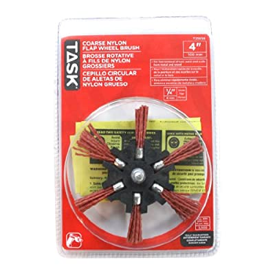 Task Tools T25656 4-Inch Diameter Coarse Nylon Flap Wheel Brush