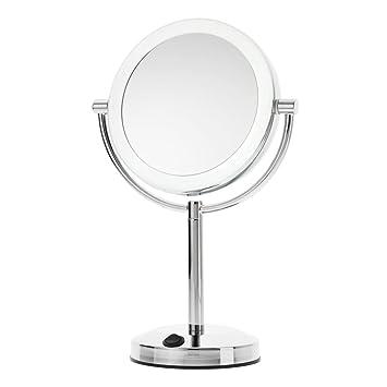 Danielle Dual Power LED 10x Magnification Vanity Mirror with USB Plug   ChromeAmazon com   Danielle Dual Power LED 10x Magnification Vanity  . Plug In Vanity Mirror. Home Design Ideas