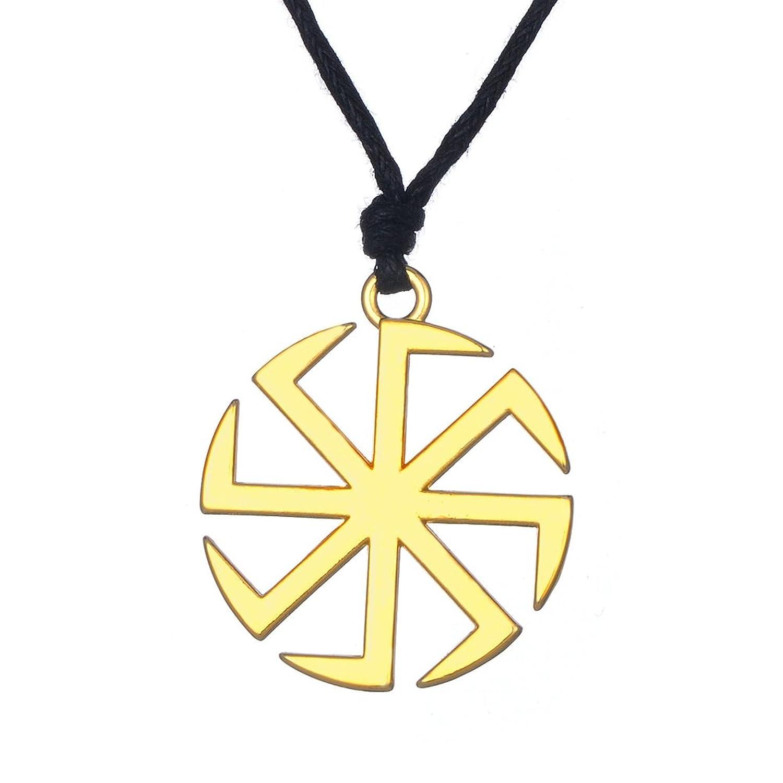 Fishhook Wicca Slavic Kolovrat Sun Wheel Symbol For Good Luck