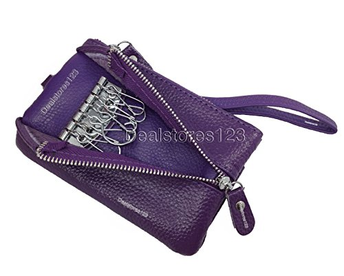 Wallet Key Purple Dealstores123 Multifunctional Holder Leather HPFpwqW6