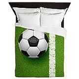 CafePress - Soccer Ball - Queen Duvet Cover, Printed Comforter Cover, Unique Bedding, Microfiber