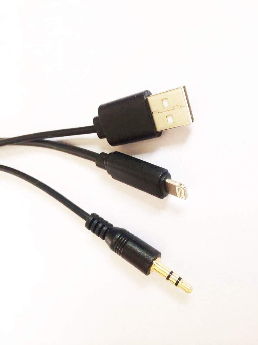 99 Zoll Auto-AUX-In-Adapter 3,5 mm Klinke und USB BMW Y-Kabel kompatibel f/ür IPX X//Xs Max//8//7//7 Plus Audio-Interface-Netzkabel f/ür BMW