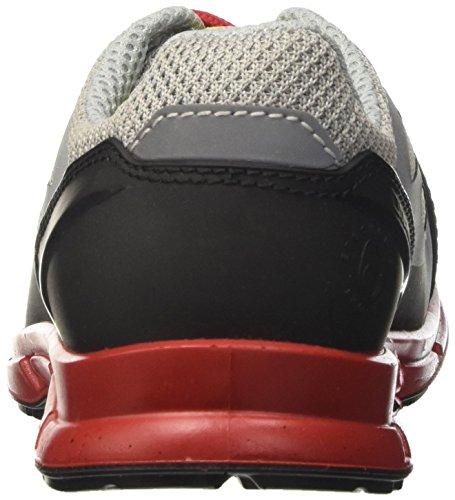Diadora Zx Flux, Zapatilla de Deporte Baja del Cuello para Hombre, Rojo (Grigio/Rosso), 46 EU