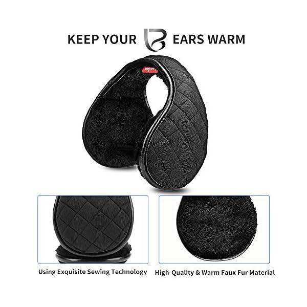 Adjustable Winter Ear Muffs for Women Men, Unisex Foldable Ear Warmers, Classic Soft Fleece Knit Earmuffs