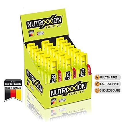 Nutrixxion GEL ENERGÍA Endurance con BCAA & vitaminas 24 x 44g, Citrus
