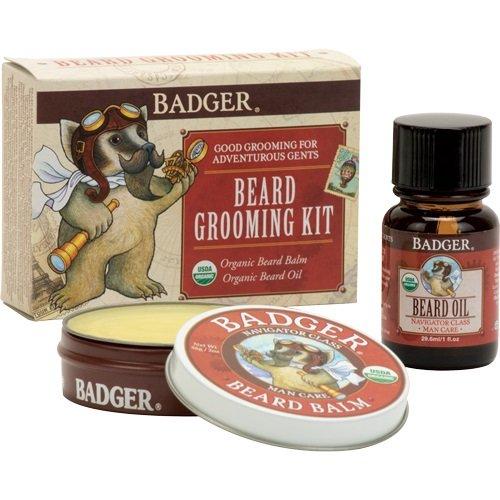 Badger Beard Grooming Kit- Includes Beard Oil and Beard Balm