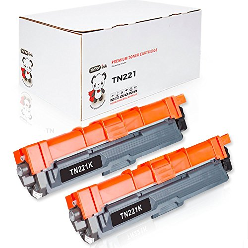 (YoYoink Compatible Toner Cartridge Replacement for Brother TN221 TN 221 (2 Black; 2 Pack))