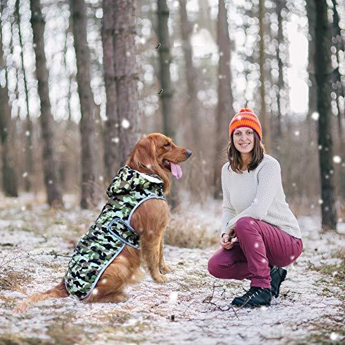 EMUST Dog Jackets for Winter, Cold Weather Coats for Dogs, Cozy Winter Jackets for Medium Large Dogs, Dog Winter Vest for Small Medium Large Dogs, L