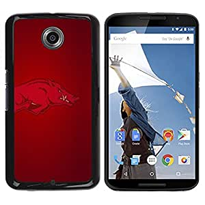 Impact Case Cover with Art Pattern Designs FOR NEXUS 6 / X / Moto X Pro Arkansas Hogs Razorback Football Betty shop