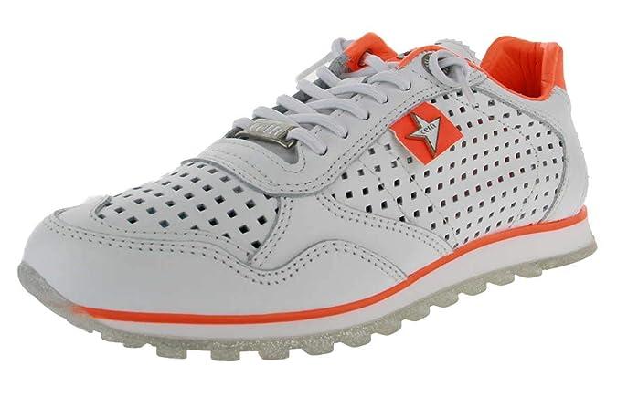 Cetti C-848 SRA - Damen Schuhe Sneakers - Sweet-Blanco-Naranja