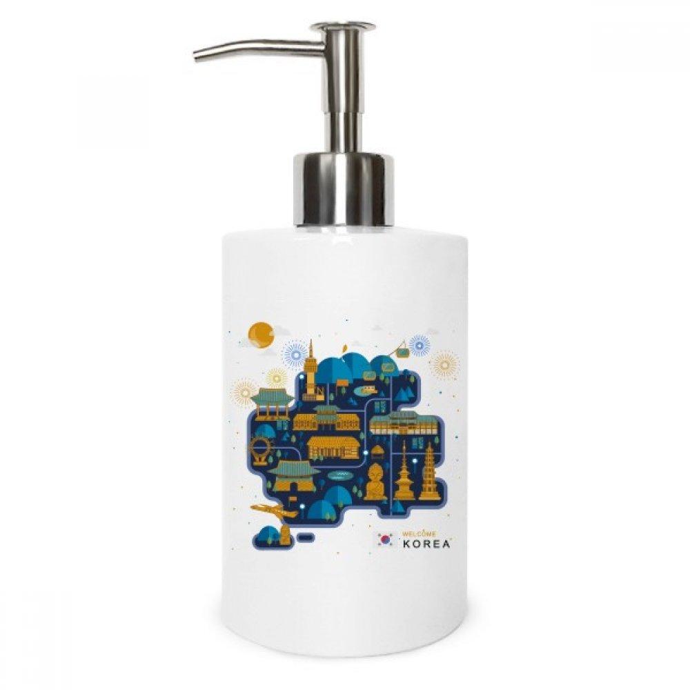 Diythinker South Korea Famous Night View Metal Soap Lotion Dispenser Bathroom Kitchen Home Gift