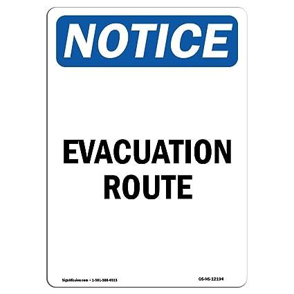 Señal de advertencia de Osha - Ruta de evacuación - Elija de ...