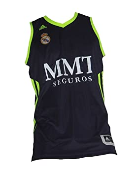 new concept 0506e 171bc Adidas 367232 Real Madrid Basketball Jersey, navy, X-Large ...