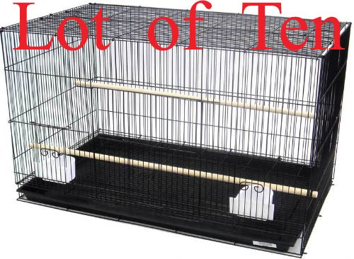 Mcage Lot of Ten Aviary Breeding Breeder Lovebird Finch Parakeet Finch Flight Cage 20x14x14H (Color: Black, Tamaño: 20 x 14 x 14H)