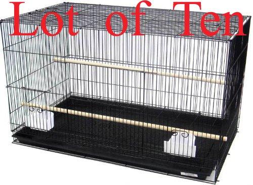 Mcage Lot of Ten Aviary Breeding Breeder Lovebird Finch Parakeet Finch Flight Cage 20