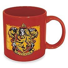 ICUP Harry Potter Gryffindor Crest Ceramic Mug, 20 oz, Black
