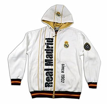 Sudadera blanca del Real Madrid Surm07 Talla-M