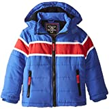YMI Little Boys' Jacket Bubble with Contrasting Horizontal Racing Stripe