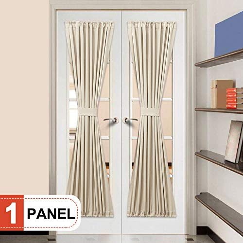 Elegance Blackout Sidelight panel curtains 25W by 72L Inches-Side lights front door curtain/panel-Beige(25x72) ()