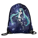Cheap VOCALOID Hatsune Miku Cute Drawstring Backpack Sack Bag