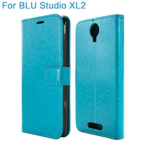 BLU Studio XL 2 Case / BLU Studio XL2 Case S0270UU Case Wallet Case with Stand Flip Case with ID Window and Credit Card Slots (WC (Phone Wallet For Blu Studio Phone)