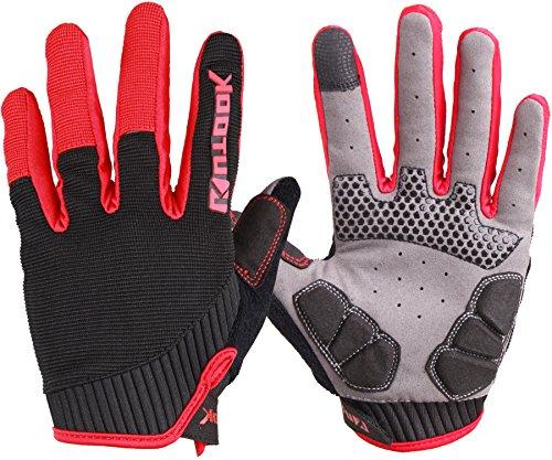 Kutook Autumn Gel Pad Full Finger Bike Gloves Finger Tip wit