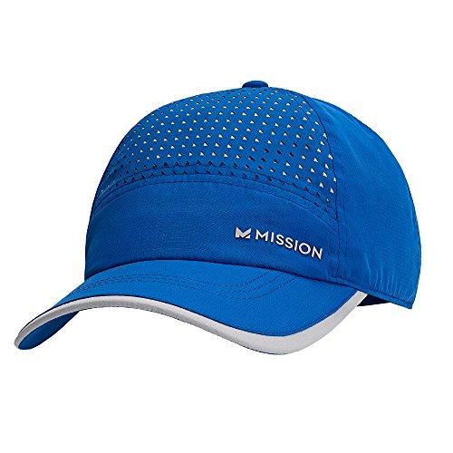 Mission HydroActive MAX Laser-Cut Performance Hat, Cobalt Blue/Grey, One Size