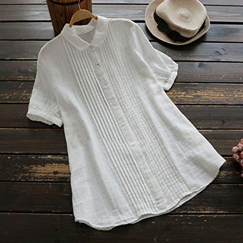 T bianco giro taglie risvolto estate le T camicetta manica a 2019 shirt shirt per fresca Donna corta e semplice pieghe Slyar plus 1O1Trq