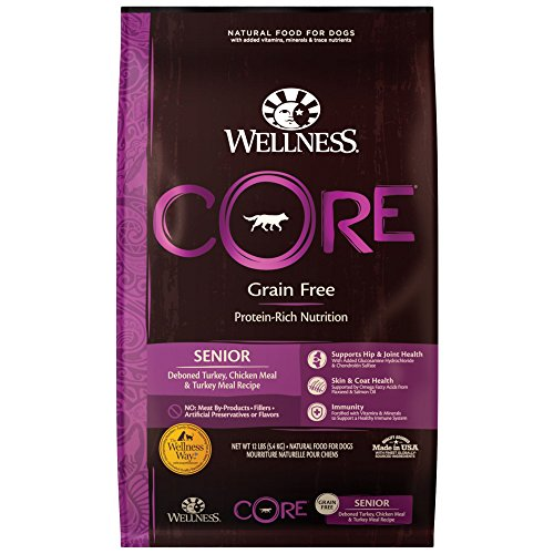 Wellness CORE Natural Grain Free Dry Dog Food, Senior, 12-Pound Bag