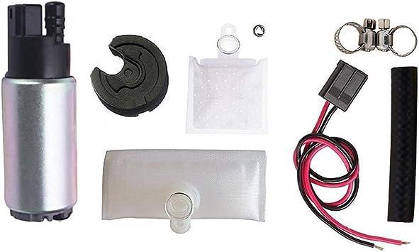255LPH Electric Fuel Pump  w//Strainer /& Installation kits Fits Nissan Subaru /&