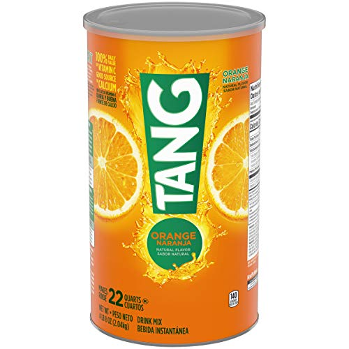 (Tang Orange Powdered Drink Mix  (Makes 22 Quarts), 72-Ounce Canister (Pack of 2))