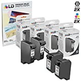 LD Remanufactured Replacement Ink for HP 45 & HP 23 Combo Set - 2 Black HP 45 (51645A) and 2 Tri-Color HP 23 (C1283D) + Free 20 Pack of LD Brand 4x6 Photo Paper