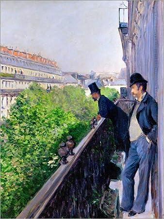 Posterlounge Cuadro de metacrilato 60 x 80 cm: Balcony on Boulevard Haussmann de Gustave Caillebotte/akg-Images: Gustave Caillebotte: Amazon.es: Hogar