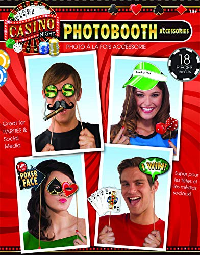 Party Photo Booth Accessory Pack, Casino -