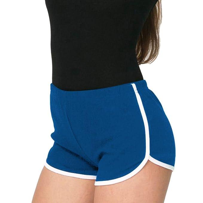 Imixcity Mujeres Deportes Gimnasio Ejercicio Cintura Flaca Yoga Pantalón Corto Pantalones Retro Cortos Verano Shorts Casuales