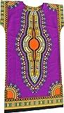 RaanPahMuang Brand Child Dashiki Colors Afrikan Full Kaftan Throw Over Outfit, Medium, Violet