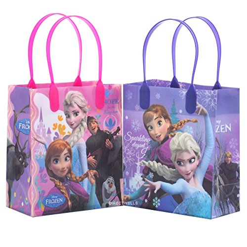 Disney Frozen Elegant and Premium Quality Party Favor Reusable Goodie Small Gift Bags 12 (12 Bags) -
