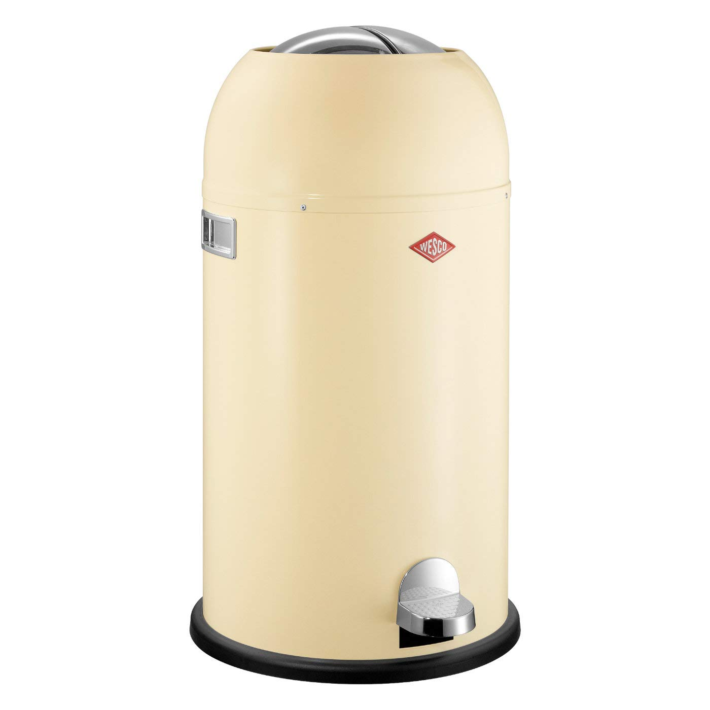 Wesco Kickmaster 33 Liter Rood.Wesco Kickmaster German Designed Step Trash Can Powder Coated Steel 8 7 Gallon 33 L Almond