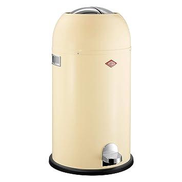 Rode Wesco Kickmaster.Wesco Kickmaster German Designed Step Trash Can Powder Coated Steel 8 7 Gallon 33 L Almond