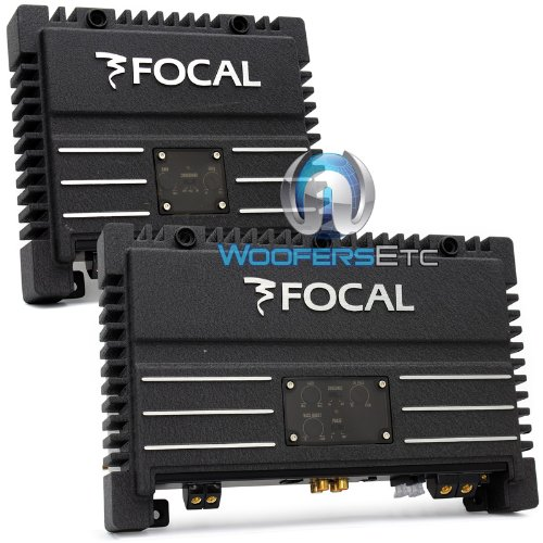 pkg Focal Solid-1 + Solid-2 = 3-Channel 700 Watt Amplifier Package Black Car Audio Amps